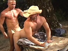 Sean Harris gets a blowjob that showcases his magnificent torso, his smile telling us all that Englishmen give great head! But Mike wants more, so he