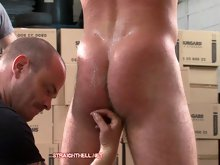 Straight man John gets bound,fisted and spanked - free gay bondage videos