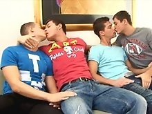 gay 4some hot fucking movie