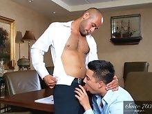 Hunter Vance and Leo Forte Men Hard at Work