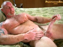 """Sexy muscle bear Ben Martin did a hot scene in our movie """"Bear Season"""" with Chad MacMillan. Ben took Chad with a passion and then some!"""