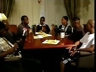 Four Lewd Black Queers Have Lunch In The Dining Room And Fuck There