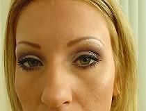 Blond black branded sucks dick interracial facial