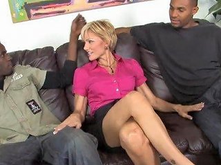 Sweet Cameron V Has An Interracial Threesome With Two Black Guys