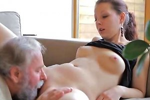 Teen Gets Fucked By An Old Man While Her Boyfriend