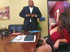 Chubby Milf In Pantyhose Gets Licked And Fucked In The Office