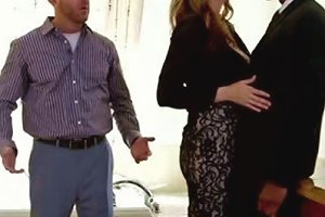 Whore Wife Gets Her Pussy Polished By Bbc In Spite Of Her Husband Sitting Next To Her