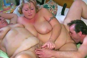 Granny In Threesome