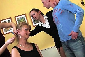 Three Naughty Mature Sluts Share One Cock Free Hd Porn 05