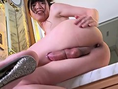 Pale Shemale From Japan Is About To Be Penetrated In Her Anus