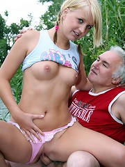 Old fart fucked very hard by babe