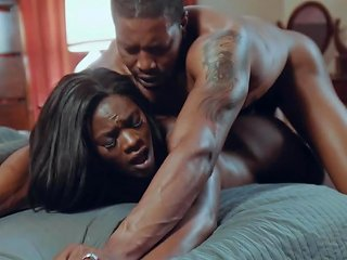 Ebony Wife Screams With The Lover's Dick Deep In Her
