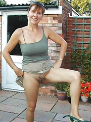 housewife banging outdoor