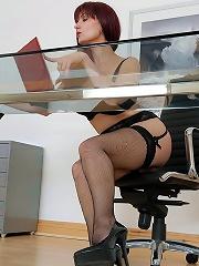 Lingerie office boss