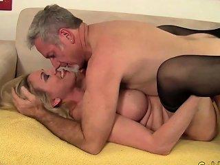 Blonde Granny Cala Craves Fucks Old Man Nuvid