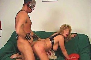 Kinky Couple With A Freaky Get Up Fucks Doggy Style