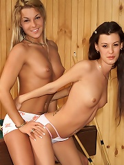 Shelby & Amy Lee with a Strap-On