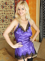 Nubiles.net Natisha - Beautiful sexy Natisha loves to drill her twat with her big vibrator when she is on the sofa