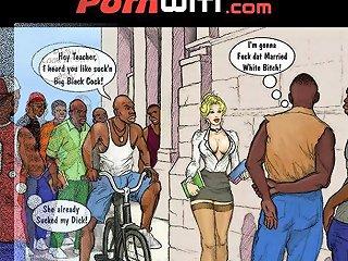 White Slut Teacher In Heat For Some Young Hung Black Boys Xxx Comic