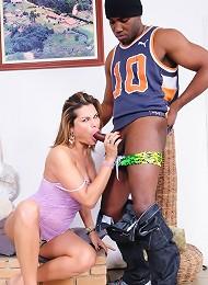 Horny Viviane getting banged...