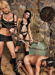 Shemale mistresses treat a g...