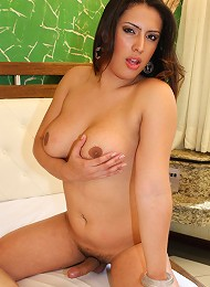 Brazilian bombshell shemales Adriana and Patricia are so horny for each other that they cant keep their hands off each