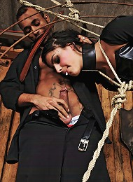 Shemale submissive getting worked over