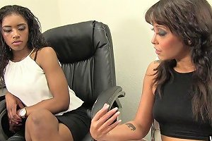 A White Boss Seduces Her Black Co Worker For Interracial Lesbian Fun