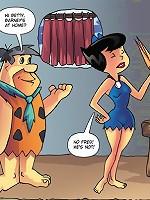 Hung bastard Fred from the Flintstones licks Betty
