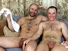 Two hairy gay men suck each others dicks in 69 and then fuck hard in anal