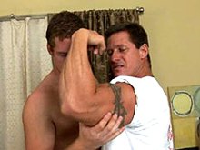 Two hot mature men over 30 fuck hard