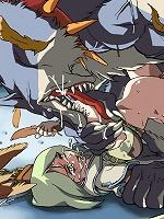 Ginormagantuan monster violate cuties